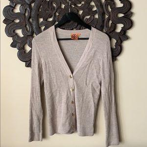 ✨✨Tory Burch beige cardigan.. like new!